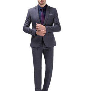 YIMANIE Men's Suit Slim Fit One Button 2 PieceSuit